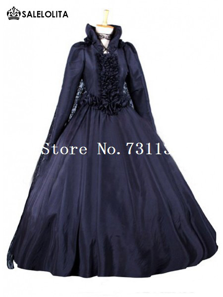 blue-taffeta-victorian-bustle-ball-gown2