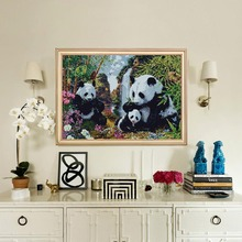 Embroidery Animals Panda Picture Of Rhinestones Diamond Painting Cross Stitch Full Round Mosaic Kits Home Decor New Arrivals hermes rouge туалетная вода 100 мл