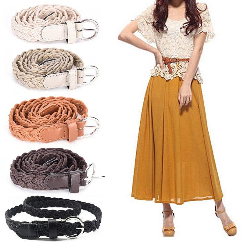 Apparel Accessories Practical New Style Dress Belt Plait Shape Candy Colors Hemp Rope Belt Braid Womens Hemp Belt Female Belt For Women Summer Dress Hot Sale Without Return