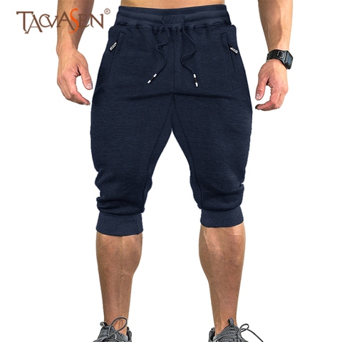 TACVASEN Sweatpants Sports Shorts For Men Gym Shorts With Pockets Sports Trousers Male Training Exercise Shorts Sportswear Pakistan