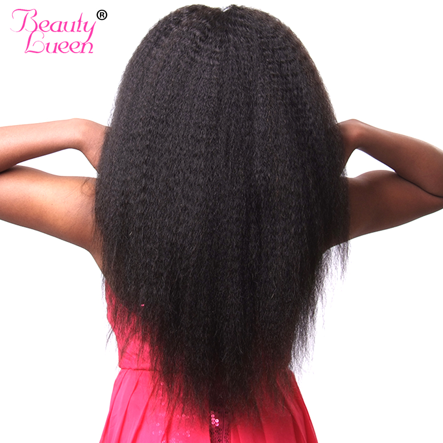 Straight hair perm products - Kinky Straight Hair Brazilian Hair Weave Bundles Coarse Yaki 100 Human Hair Extensions Non Remy Beauty Lueen Hair Nature Color