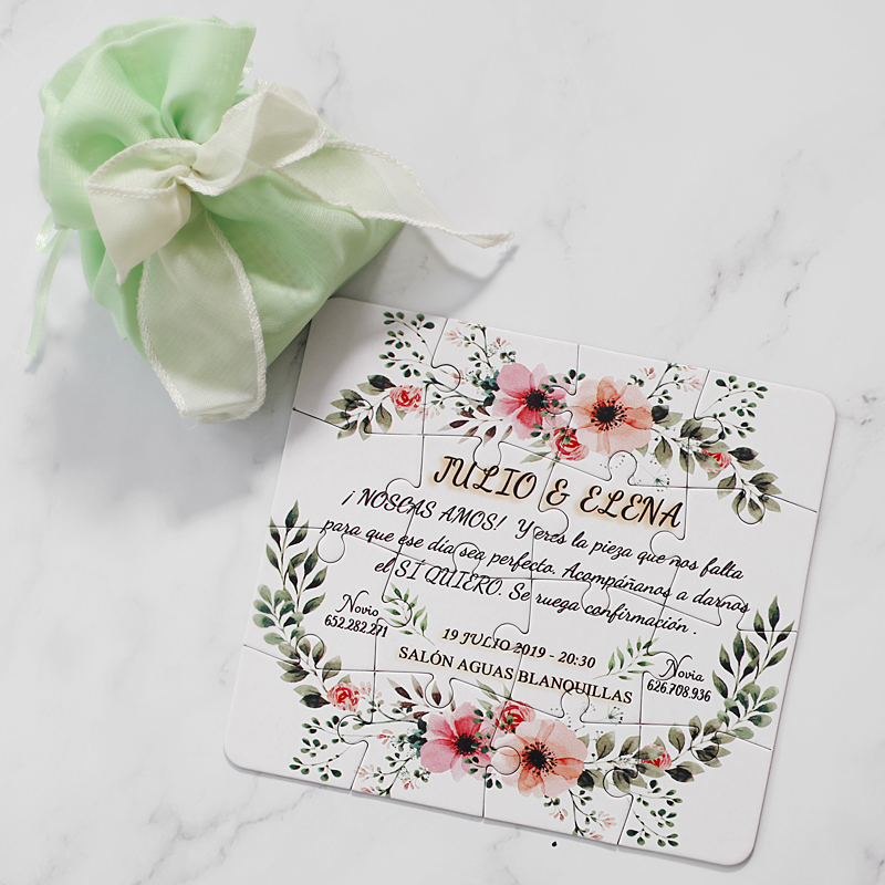 Us 85 04 21 Off Original Personalized Wedding Invitations Card Invitation Puzzle Any Country Languages Customized Text Quany Order In Cards