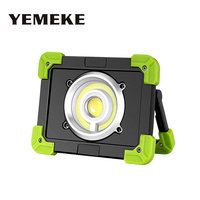20W Led Portable Spotlight Cob Led Work Light Rechargeable Floodlight Built In Lithium Battery Outdoor Lamp For Hunting Camping