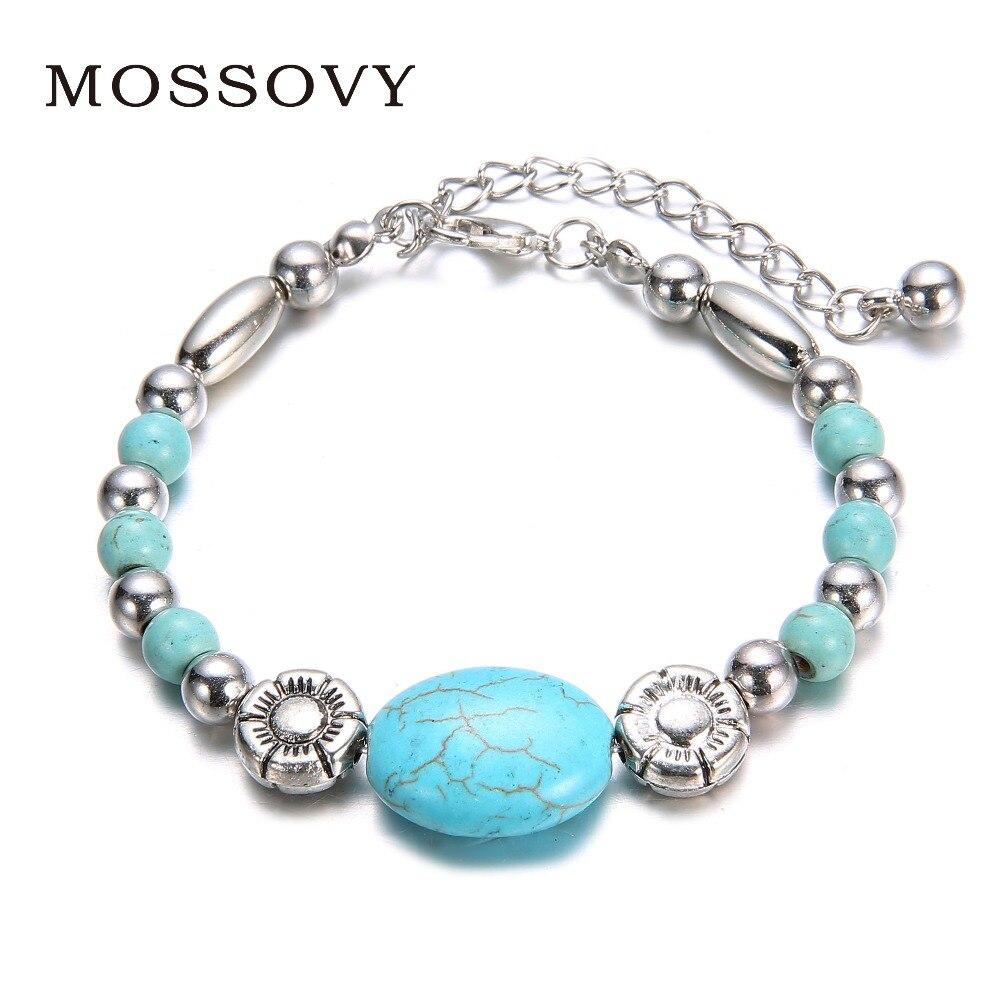 Mossovy New Products Ethnic Style Imitation Created Bracelet Fashion  Personality Retro Bracelet Fashion Jewelry c6365523aaf7