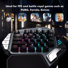 GameSir Z1 Gaming Keypad for PUBG FPS Mobile games, AoV,Mobile Legends, RoS. One-handed Cherry MX red switch keyboard/BattleDock