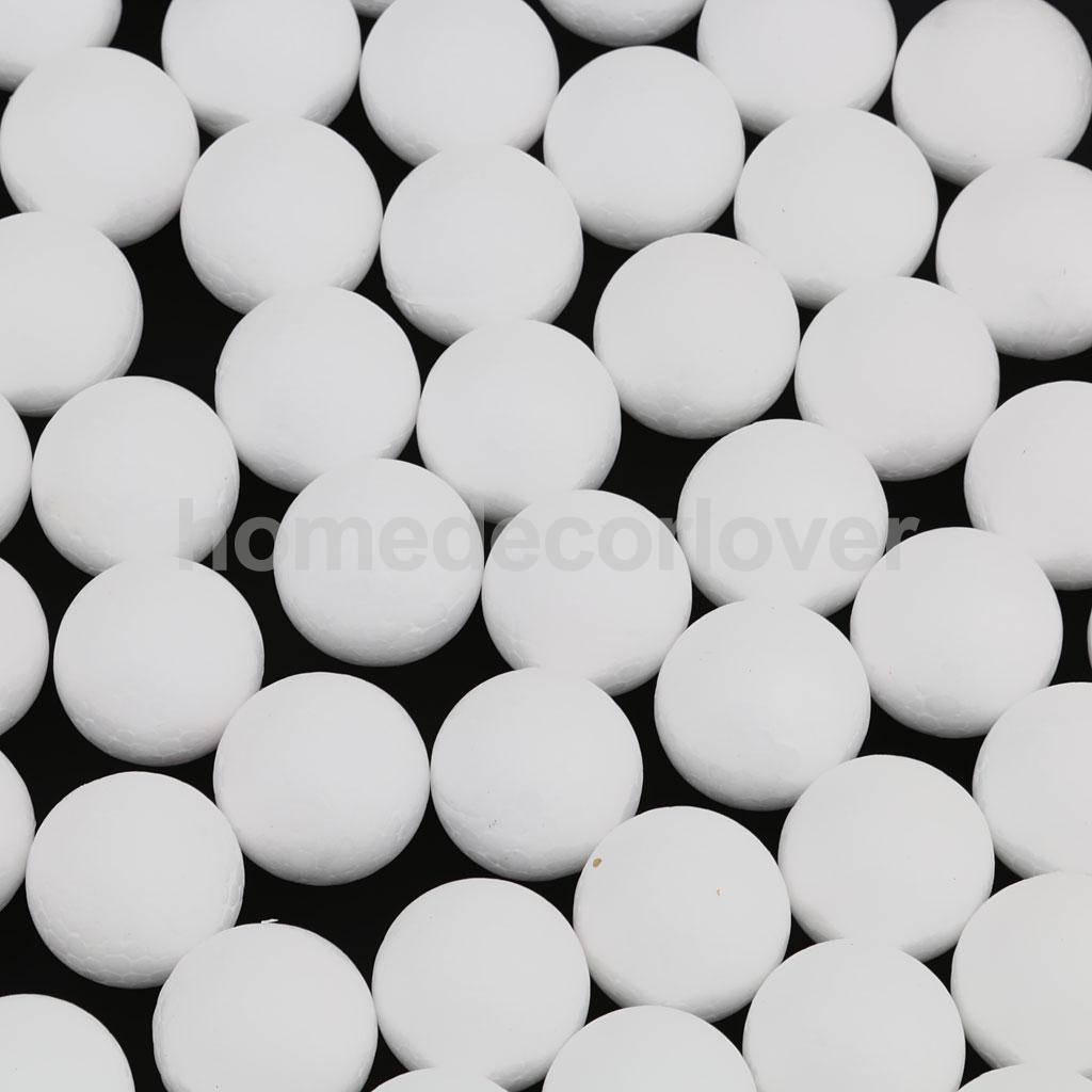 Foam ball craft - 100pcs 25mm White Modelling Craft Polystyrene Foam Balls Kids Craft Diy Decoration China Mainland