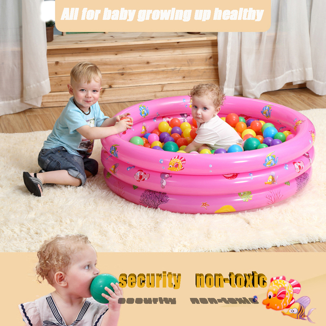 b3469fad36f Baby Kiddie Pool 3 Rings Circle inflatable swimming pool Kids Float Lounge  Pool piscine gonflable zwembad Home Use & Outdoors