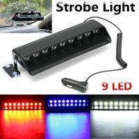9LED Car Strobe Dash/Deck Parabrezza Luce Di Emergenza Bar Fanale Avvertimento Flash Luce Per SUV Camion Fuori Strada