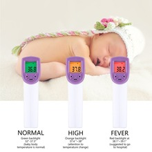 Digital Baby Thermometer Tool Red Laser Infrared Forehead Thermometer Non-Contact IR Pyrometer LCD Display Temperature Gun все цены