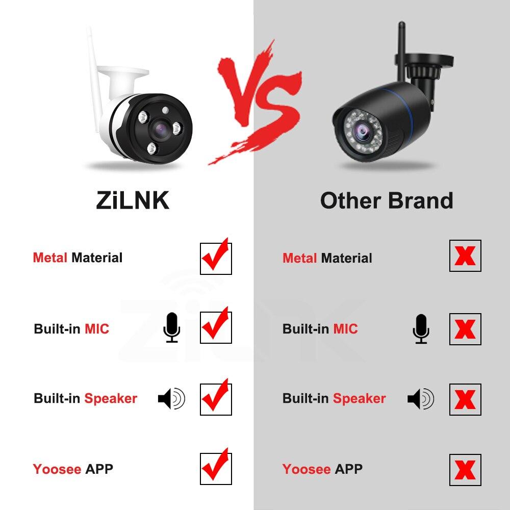 ZILNK WiFi IP Camera 1080P 2.0MP IR Two Way Audio Wireless Surveillance Outdoor CCTV Bullet Camera Metal P2P Onvif Yoosee