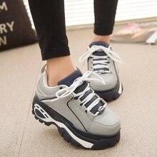 ขาย!!!ผู้หญิงรองเท้าC Reepers 2015สไตล์เกาหลีระบายอากาศHarajukuรองเท้าแพลตฟอร์มรองเท้ารถx519 35