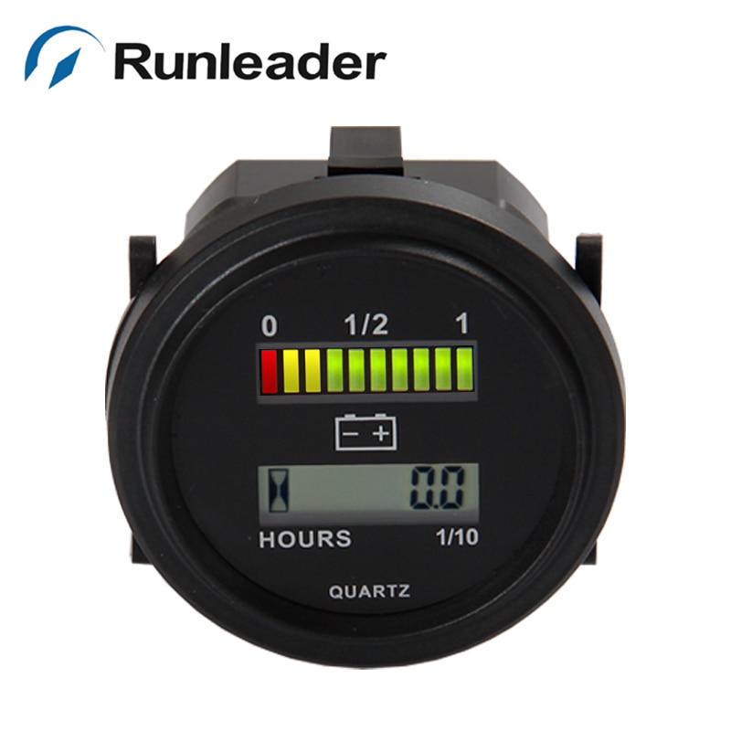 Numérique LCD 12 V 24 V 36 V 48 V 72 V PLOMB-ACIDE DE STOCKAGE batterie Indicateur Compteur Horaire Compteur pour électrique cleaner voiturettes de golf chariot élévateur