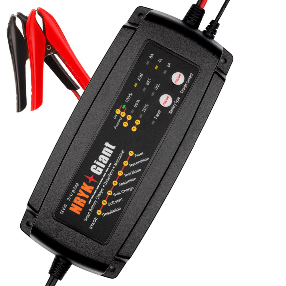 Smart Car <font><b>Battery</b></font> Charger 12V or 24V <font><b>Battery</b></font> Charger Maintainer & Desulfator 2A/4A/8A or 1A/2A/4A AGM GEL WET <font><b>Battery</b></font> Charger