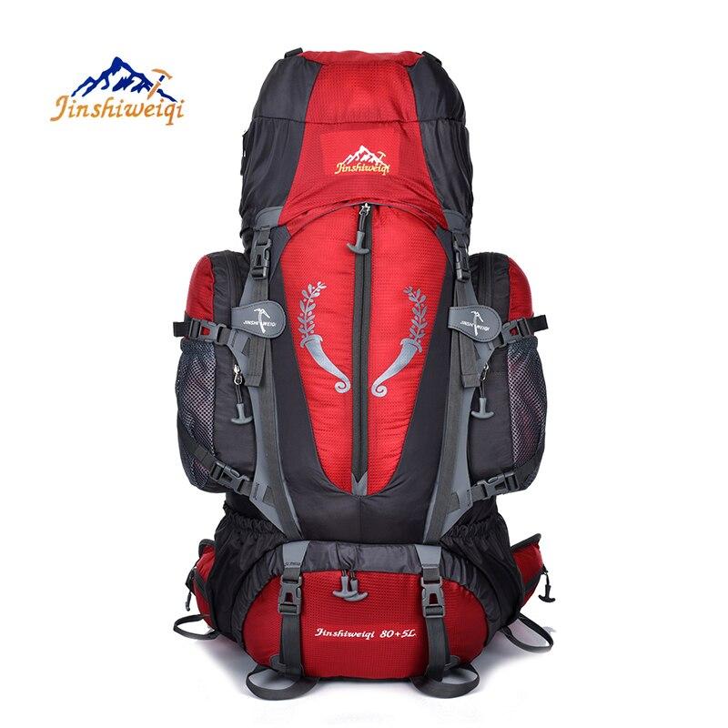 Prix pour JINSHIWEIQI Grande 85L Sac À Dos Plein Air Voyage Multi-but escalade sacs à dos de Randonnée grande capacité Sacs À Dos camping sport sacs