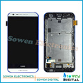 for HTC Desire 620 620G LCD display with touch screen digitizer and frame assembly full sets,Black White, 100% gurantee