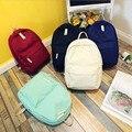 Mulheres da forma da lona mochila de viagem ocasional novos alunos school girls sacos sólida breve grande estilo preppy mochila senhoras, LB2473