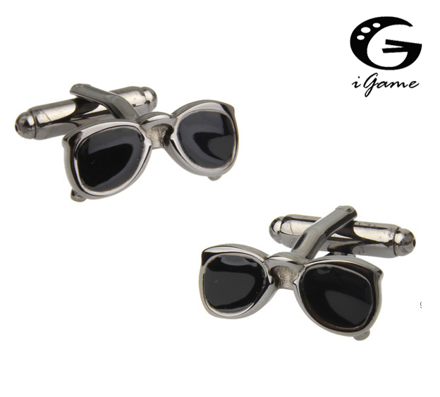 iGame Sun Glasses Cuff Links Cool Black Color Sunglasses Design Free ShippingiGame Sun Glasses Cuff Links Cool Black Color Sunglasses Design Free Shipping