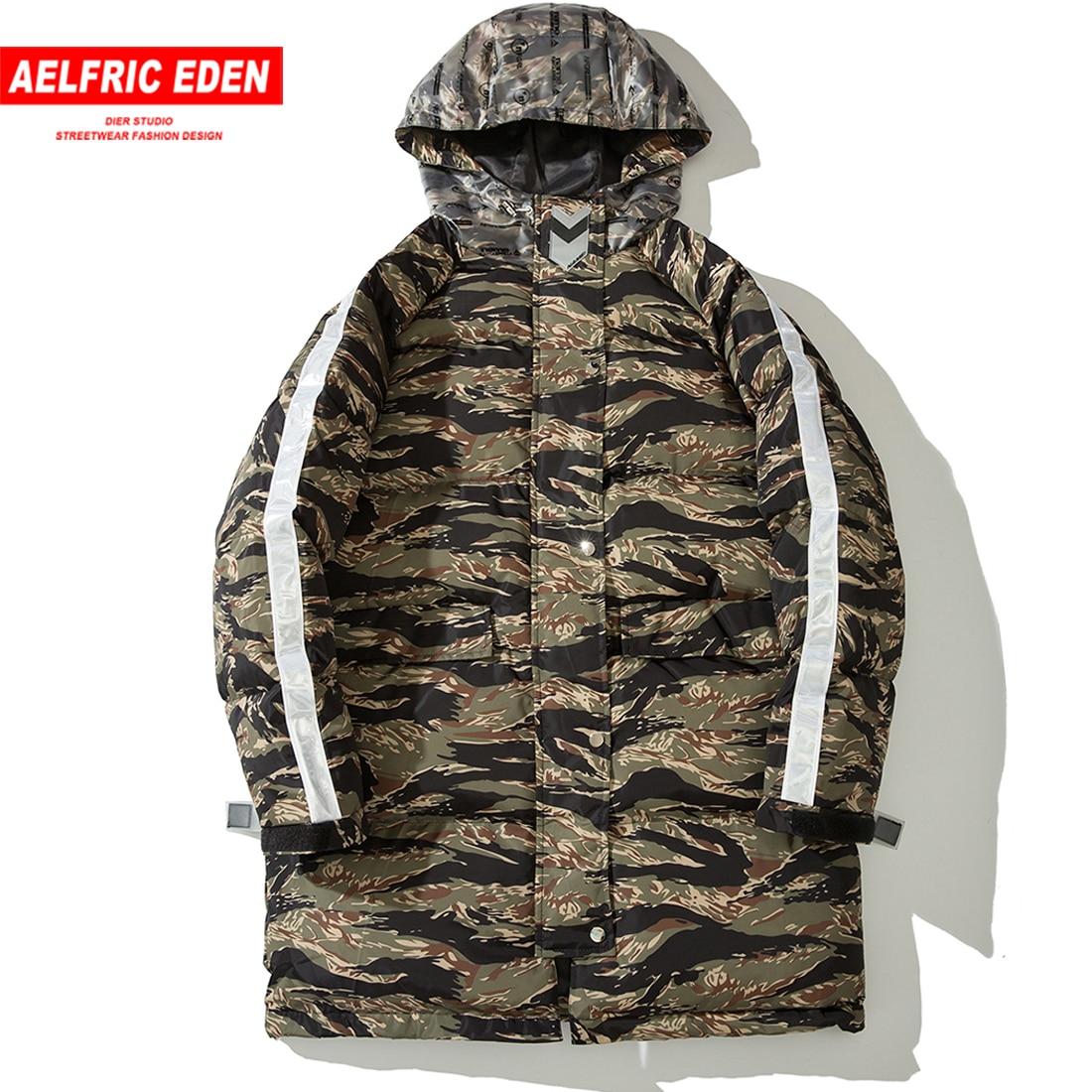 Aelfric Eden Harajuku Hoodies Mens Parkas Winter Clothes 2018 New Fashion Hip Hop Personality Warm Long Jackets and Coats Wa46