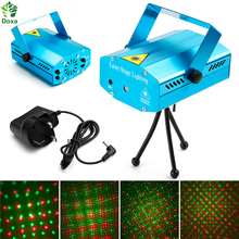 Doxa 1PC LED Laser Projector Dj Voice activated Xmas Party Club Lamp Stage Lighting Disco Light