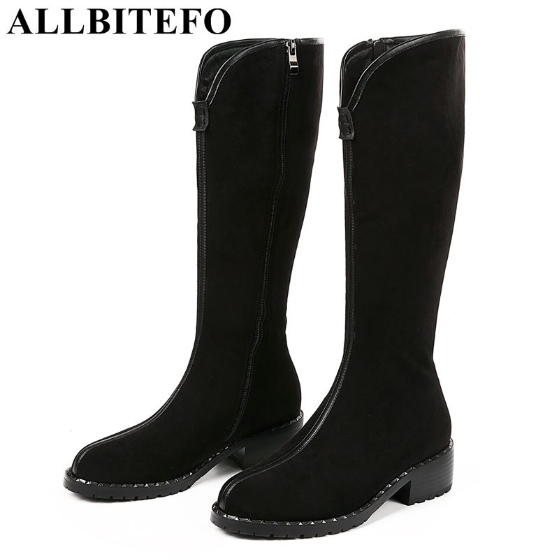 ALLBITEFO natural genuine leather women high boots winter fashion girls over knee boots sexy high heel thigh high boots shoes allbitefo natural genuine leather women boots high quality winter girls knee high long boots fashion thigh high boots for woman