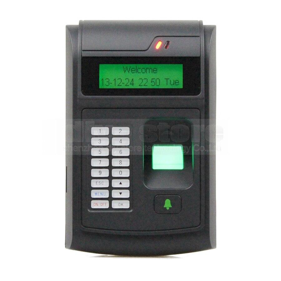 Diysecur lcd biometric fingerprint pin code door lock for Door access controller