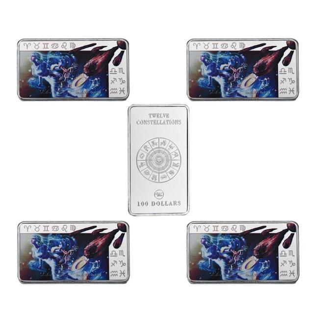 Wr Luxury Home Decor Libra 12 Constellation Silver Bar Decorative 100 Dollar Metal Bars Art Crafts
