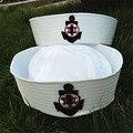 2017 Белый Сейлор Вмф Hat Cap с Якорь для Fancy Платье сейлор Морской Doughboy военные Cap Hat для Взрослых и детей matroos