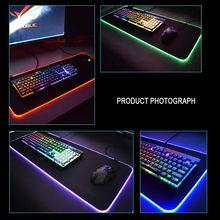 RGB 7 Красочный светящийся коврик для мыши игровой светодиодный осветительный Коврик Для Мыши для ПК ноутбук Настольный Ноутбук аксессуары