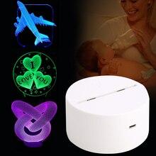 Держатель лампы световая база современный романтический 3D ночник Дисплей осветительный прибор домашний орнамент Белый ночник аксессуары