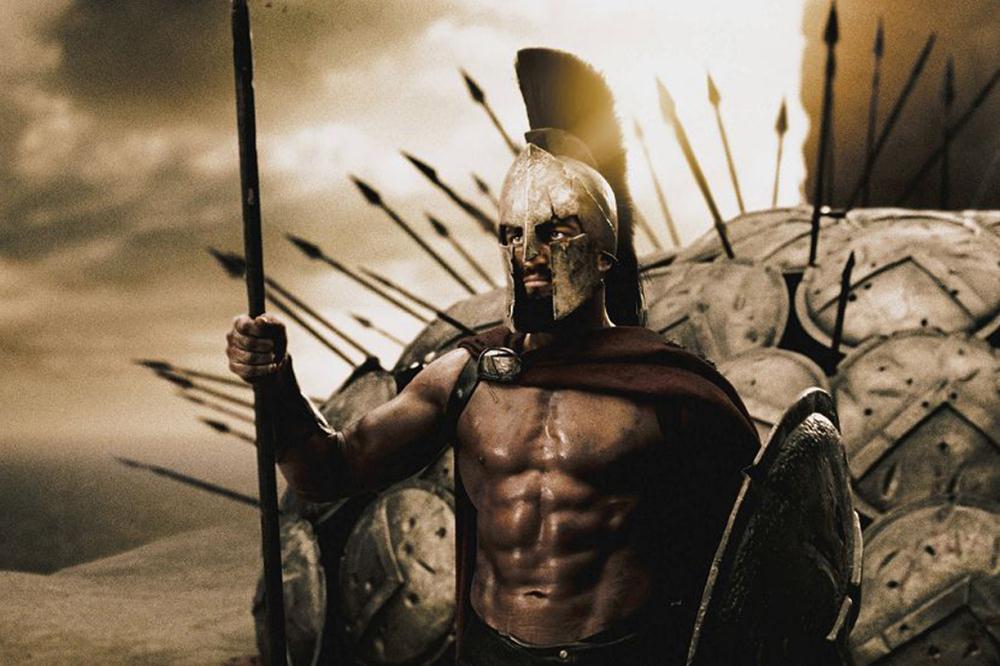 300 Spartan Maxi Poster. NEUE. Gerard Butler. Zack Snyder kunst leinwand Movie...