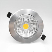 Free shipping Dimmable 9W 15W 20W COB LED Downlights Tiltable Fixture Recessed Ceiling Down Lights Lamp  AC110V/AC220V