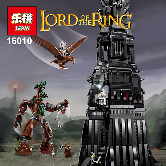 DHL Lepin 16010 2430 Pieces Lord of the Rings The Tower of Orthanc Model Building Kits Blocks Bricks Compatible Kids Toys 10237