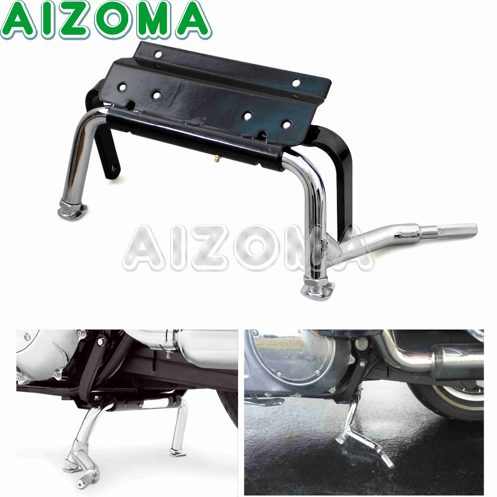Adjustable Center Stand Hardware Service Centeal Holder For Harley Touring Road King Custom Electra Glide FLHR