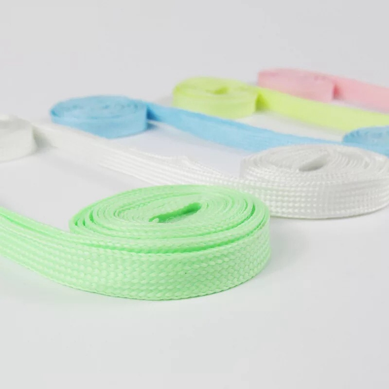 1Pair Luminous Shoelace Athletic Sport Flat Shoe Laces Glow In The Dark Night Color Fluorescent Shoelace 80 100 120 140CM YG 2 in Shoelaces from Shoes