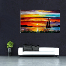 1 Pcs Rural Landscape Hand Painted Oil Painting On Canvas Art Lovers Boat In the Sea Decorative Pictures Home Decor oyuntuya shagdarsuren tackling isolation in rural mongolia