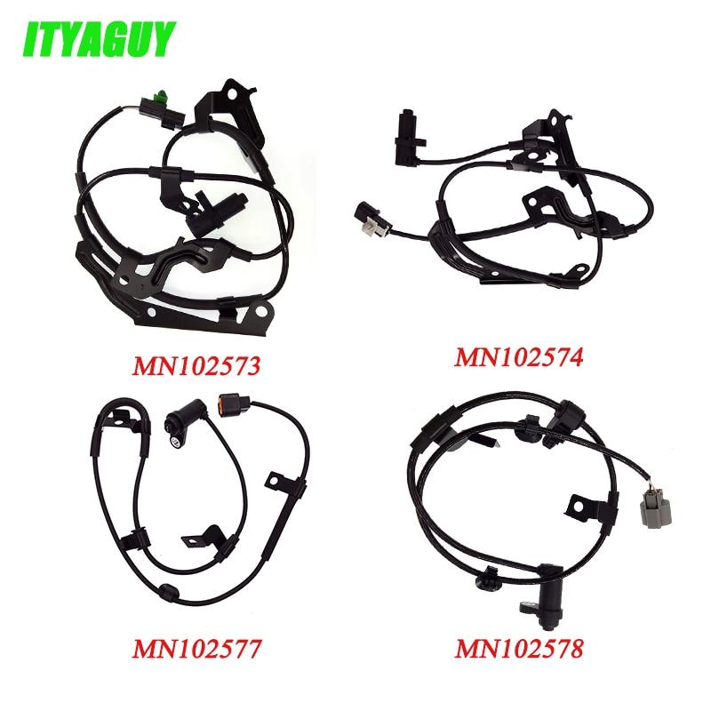 4Pcs ABS Wheel Speed Sensor MN102573 MN102574 MN102577 MN102578 For Mitsubishi L200 Triton Pajero Montero Sport