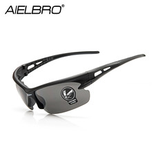 AIELBRO Outdoor Cycling Glasses 5Colors MTB Bicycle Motorcycle Sunglasses UV Protection Windproof Men