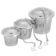 1 шт. многоразовые Чай заварки сосуд для специй Сито-заварник Нержавеющая Сталь Многофункциональная сетчатый травяной шарик Чай сито для специй