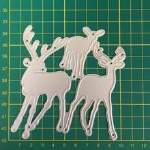 3 elk Animal Envelope greeting card Stencil Metal Cutting Dies Cut Practice Hands-on DIY Scrapbooking Album Craft die 9.6*10.5cm нож туристический m2 сталь 440c южный крест