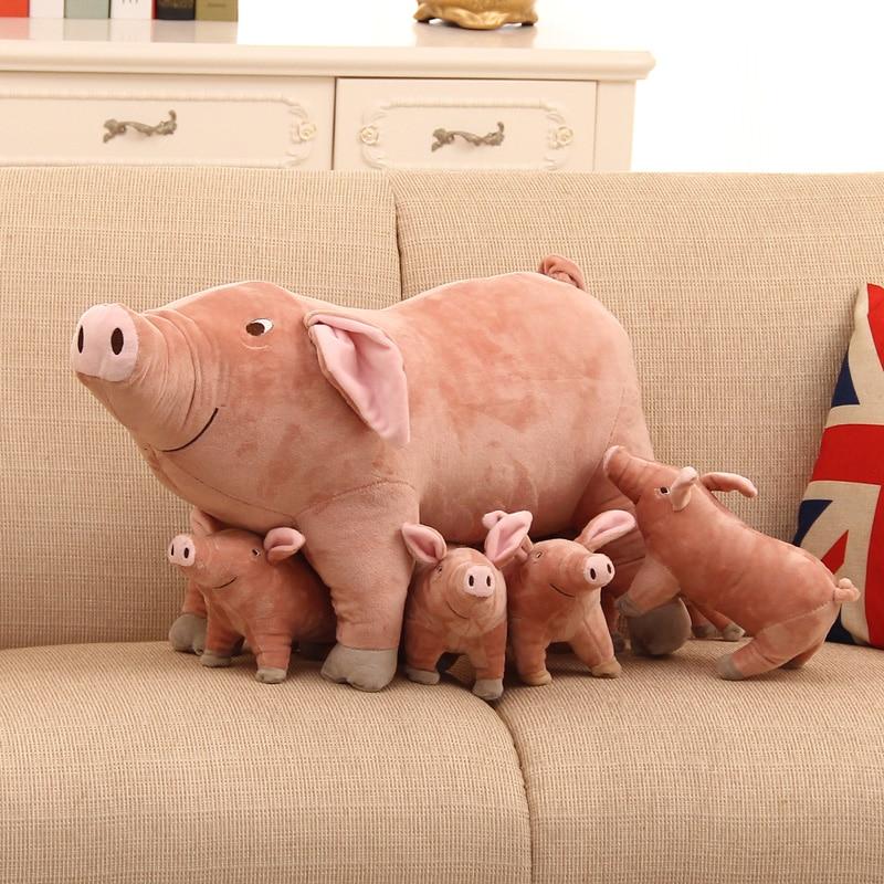 25cm  Plush Toys Pink Pig Plush And Stuffed Animal Doll Toys Cartoon TV Cute  Sleep Toys