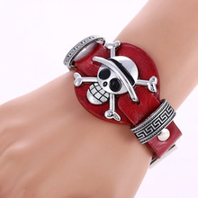One Piece Theme Leather Bracelet