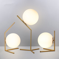 Modern Glass Ball Table Lamps Nordic LED Desk Lamps Shade Glass Ball Standing Lamp Light for Bedroom Living Room Fixtures