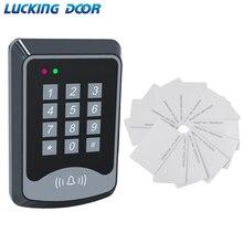 Free Shipping RFID Keypad Access Control System Device Machine 125Khz RFID Card Reader Door Lock System 1000 user Keyfobs Cover цена и фото