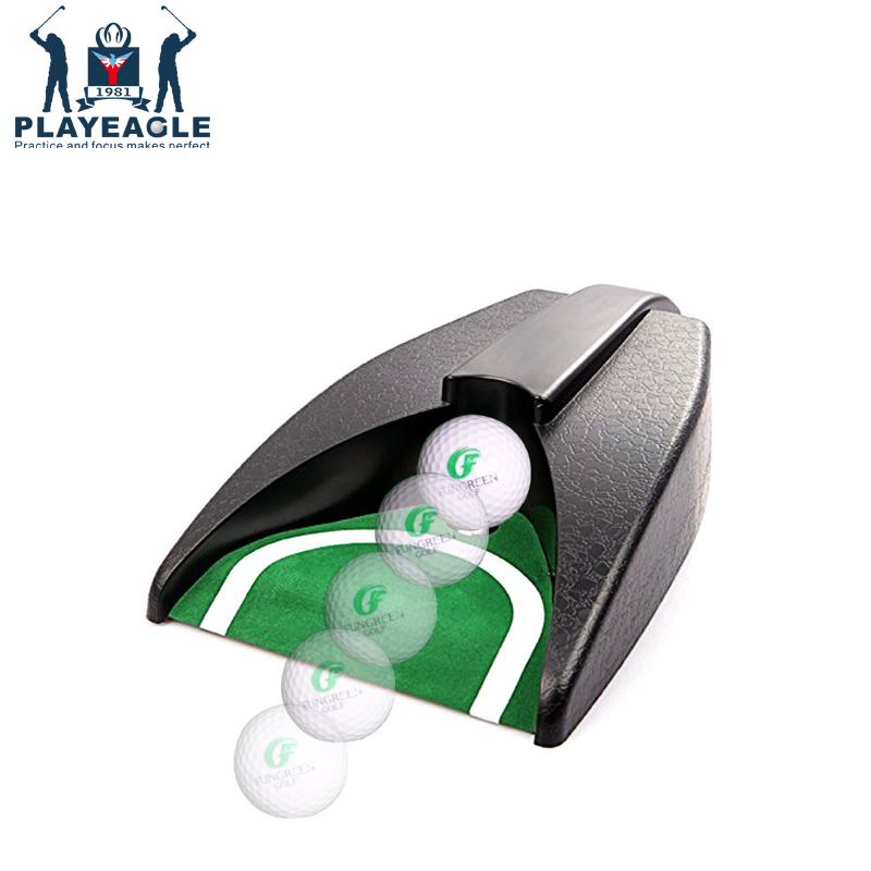 PLAYEAGLE Golf Ball Automatic Return Putting Kick Back  Device Practise Putting Green Golf Training Aids Golf Acessories