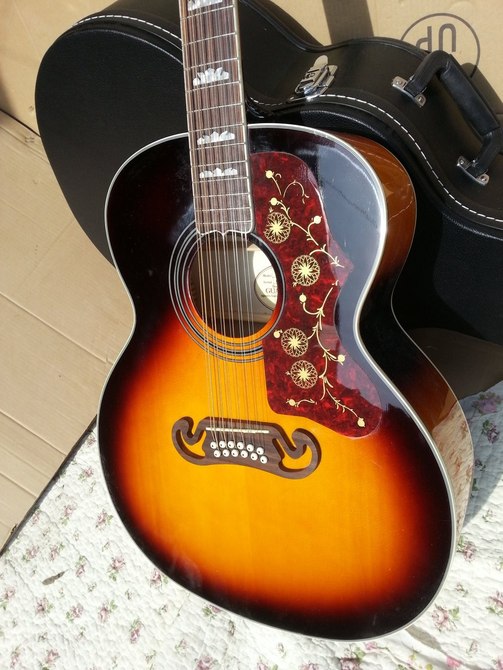2016 New + Factory + Chibson SJ200 flame maple acoustic guitar abalone binding J200 electric acoustic solid spruce top Acoustic цена и фото
