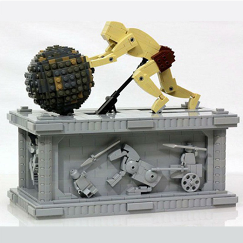 23017 23015 Technic Series The MOC Sisyphus and Electric Pegasus Moving with Motor Building Block Bricks