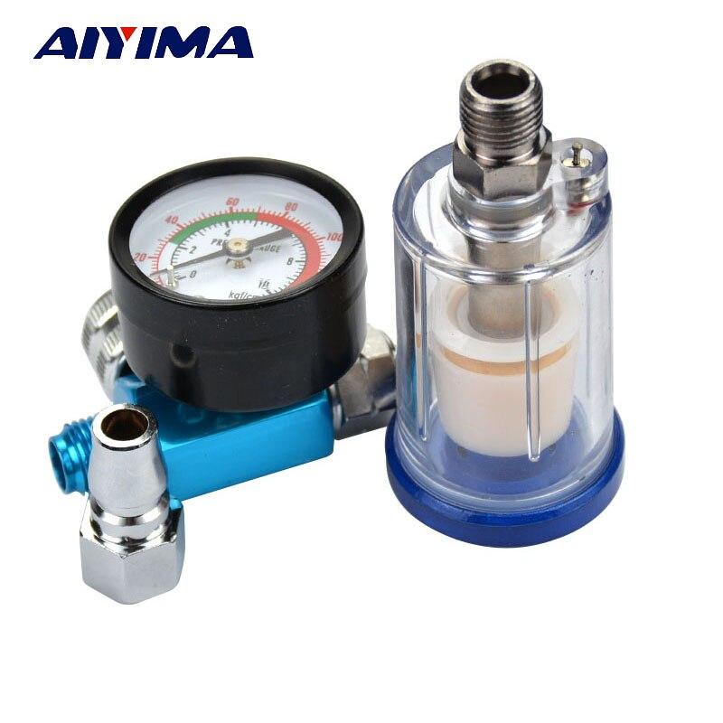 AIYIMA 1pcs Scratch Spray Gun Air Regulator Gauge & In-line Water Trap Filter Tool цена 2017