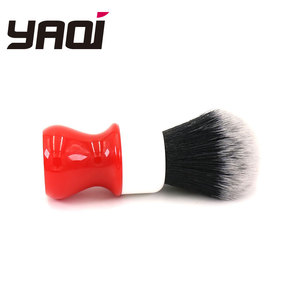 Image 4 - Yaqi 26mm Ferrari Rough Complex White Version Shaving Brush With Tuxedo Knot