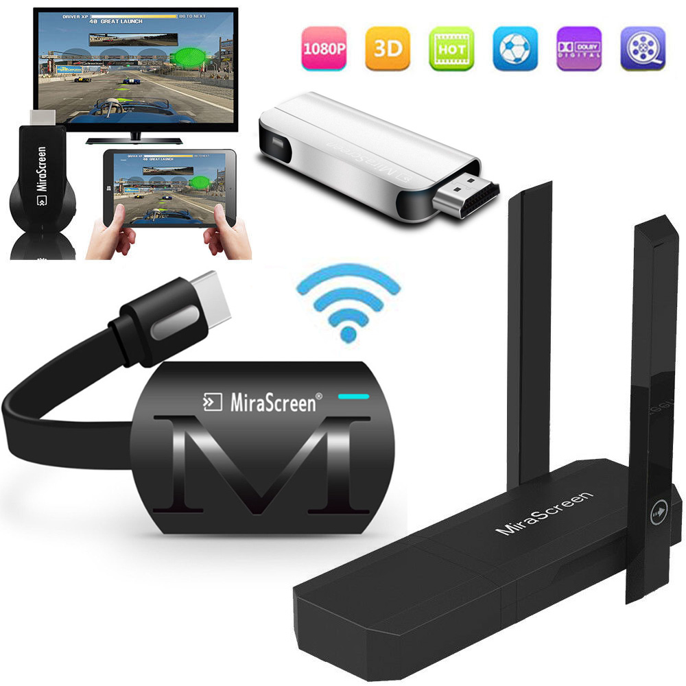 Wireless WiFi HDMI Display Dongle Adapter To TV HDTV for iPad iPhone IOS Android