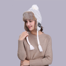 MingJieBiHuo Outdoor autumn and winter new fashion warm thick Simple wild cute knit hat